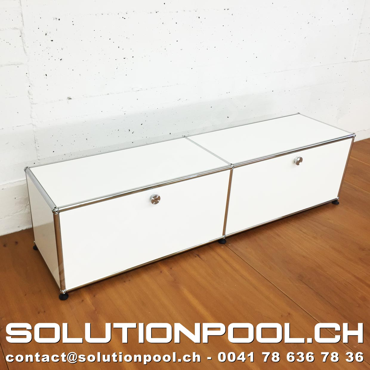 USM Lowboard Weiss  SOLUTIONPOOL  USM Occasion & Services -> Lowboard Usm Weiss